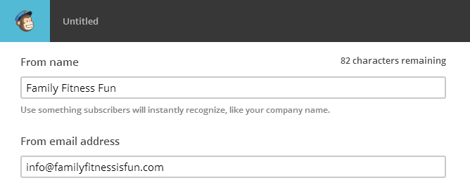 From Email Setup