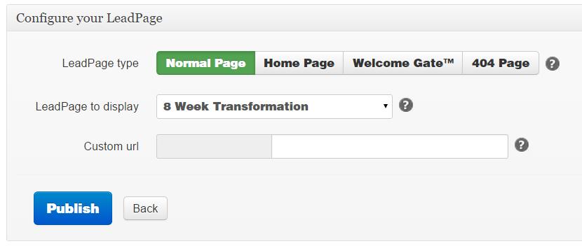 WordPress Configure LeadPages